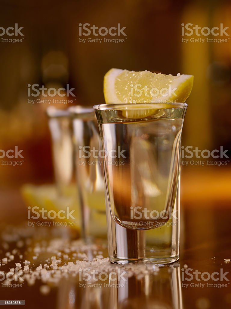 Tequila Shots royalty-free stock photo