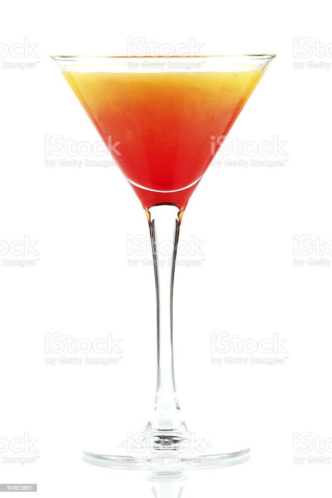 Tequila sunrise alcohol cocktail royalty-free stock photo