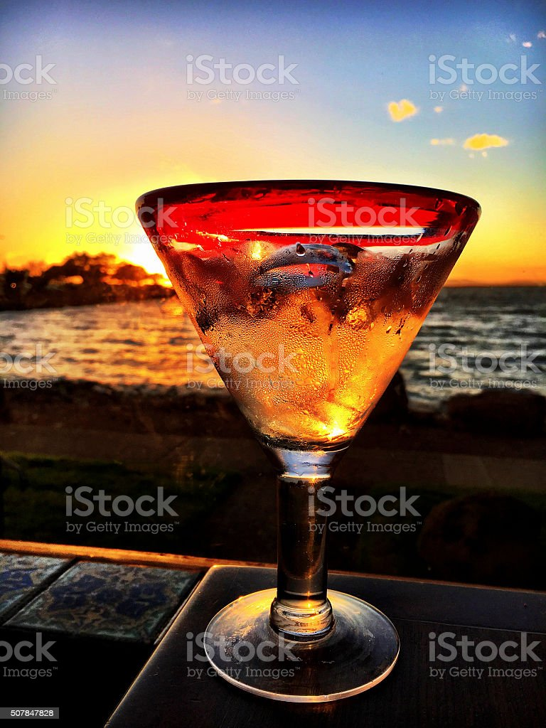 Tequila sunset stock photo