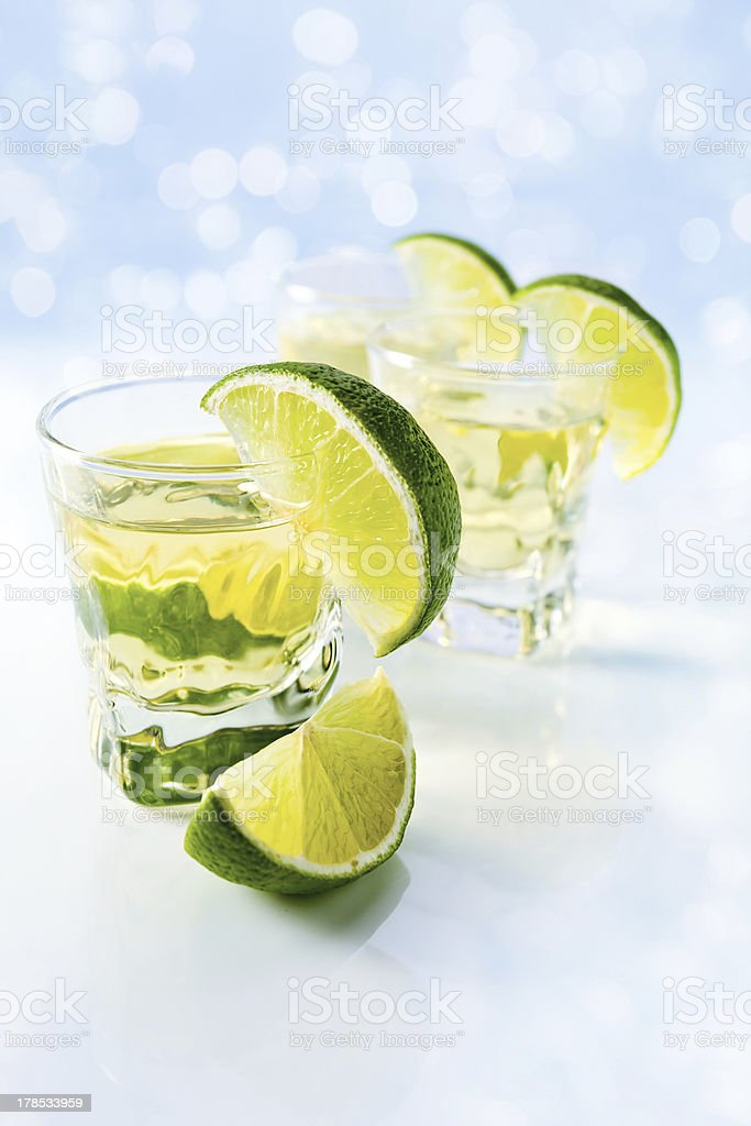 tequila with lime royalty-free stock photo
