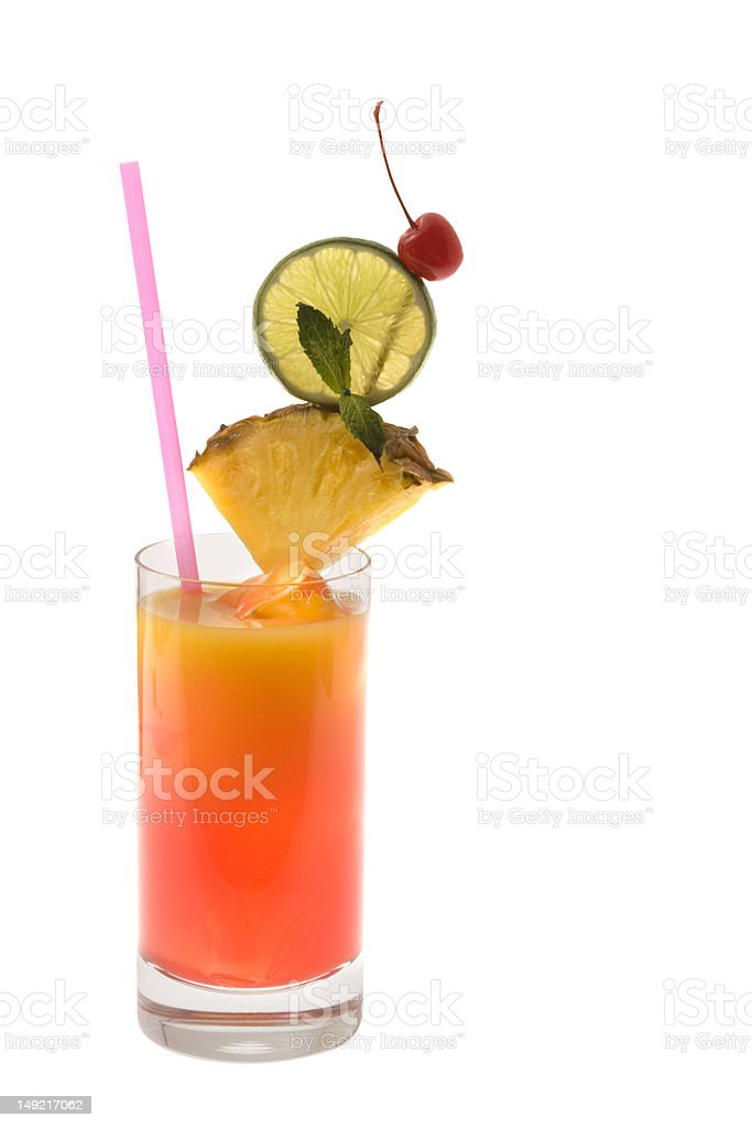 Tequilia Sunrise Cocktail royalty-free stock photo