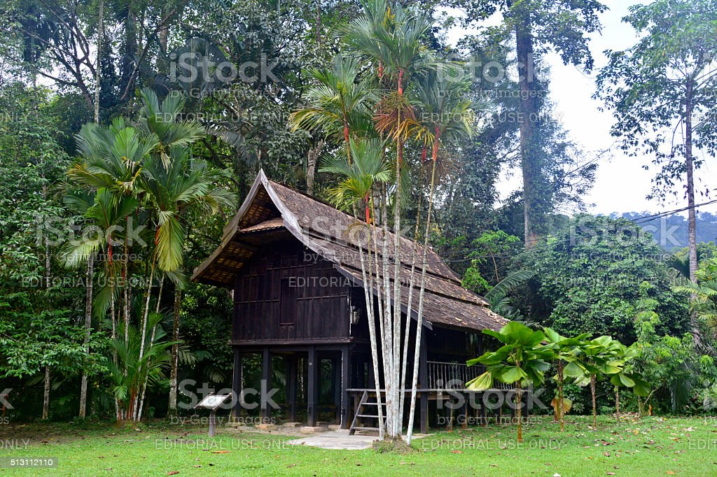 Terenganu House at the Forestry Research Institute of Malaysia (FRIM). stock photo