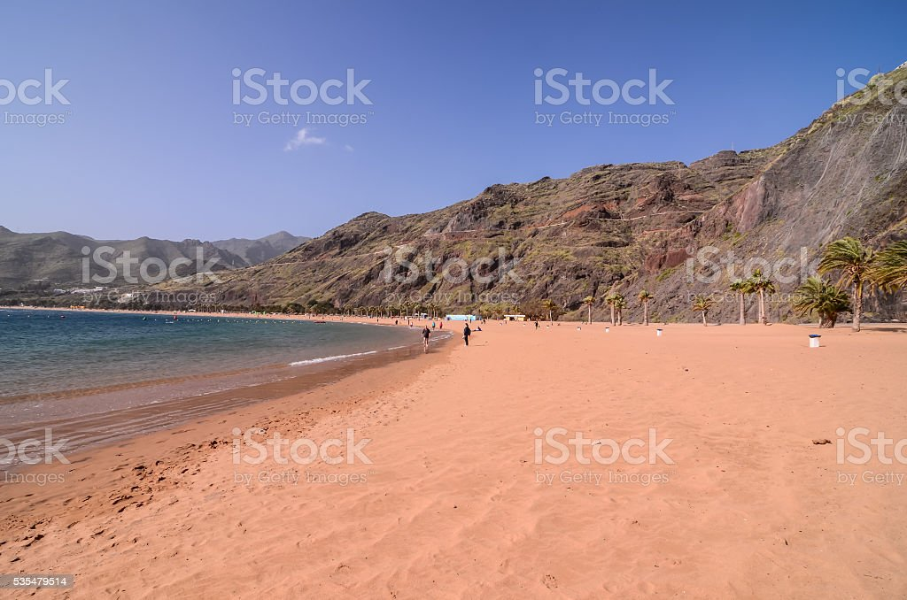 Teresitas Beach in Tenerife stock photo
