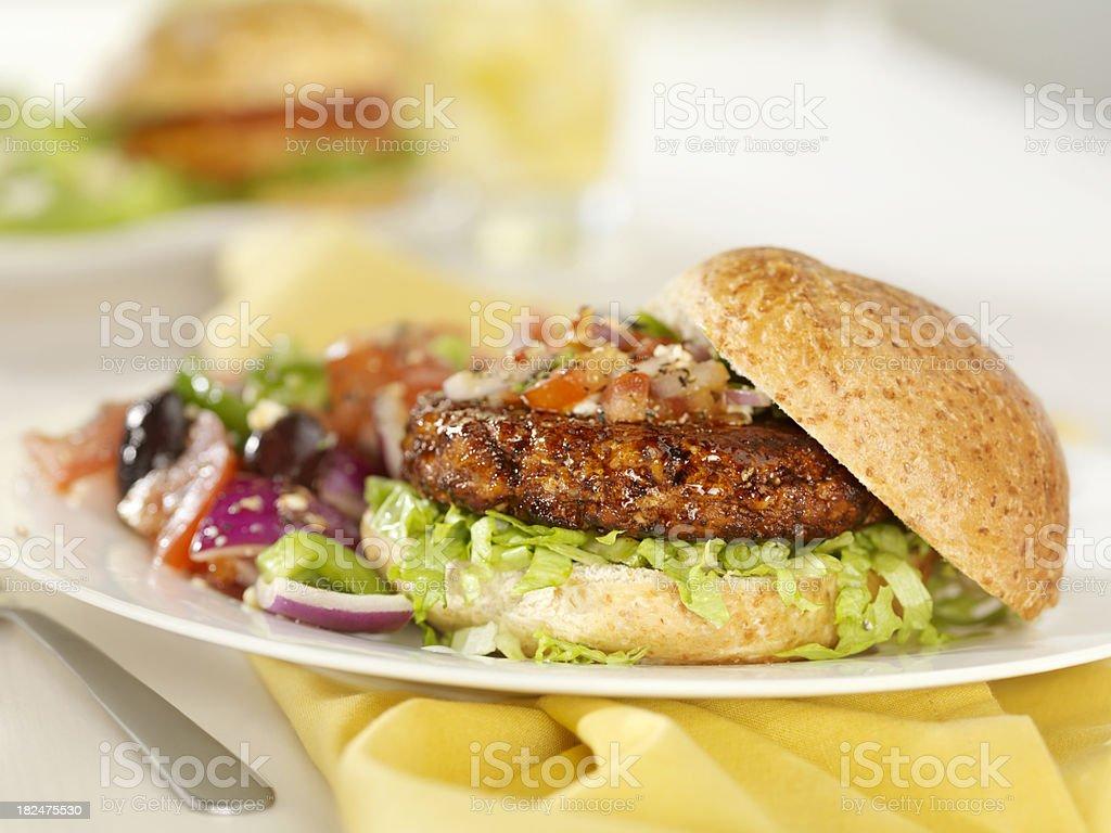 Teriyaki Chicken Burger stock photo