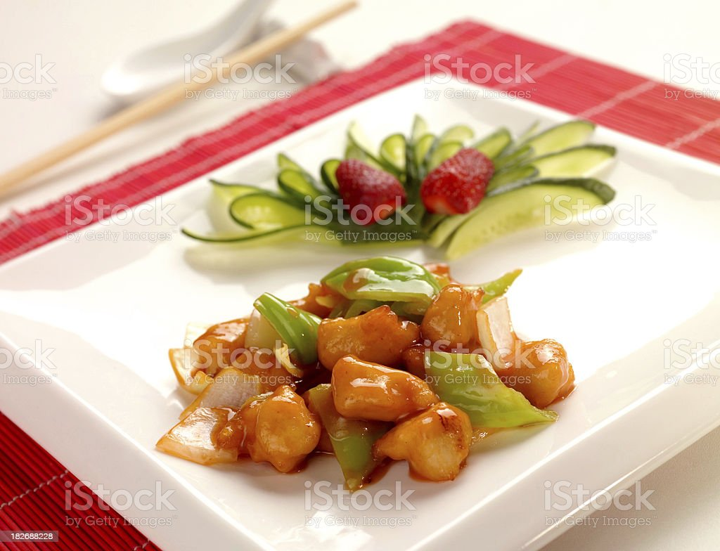 Teriyaki Chicken royalty-free stock photo