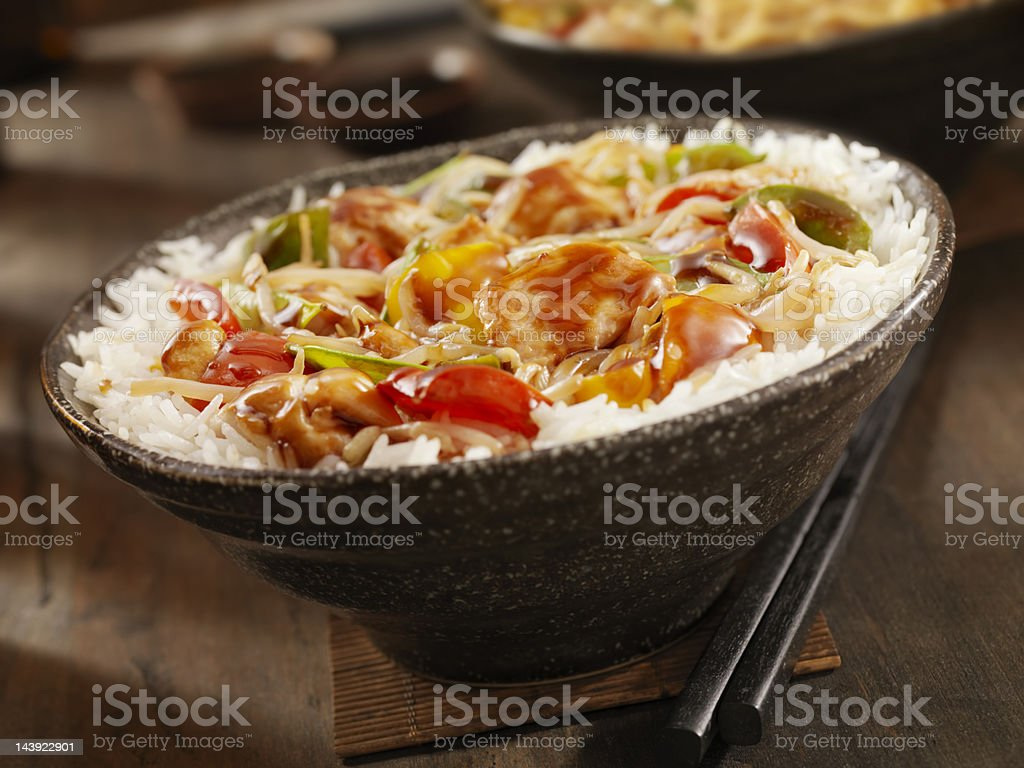 Teriyaki Chicken Stir fry royalty-free stock photo
