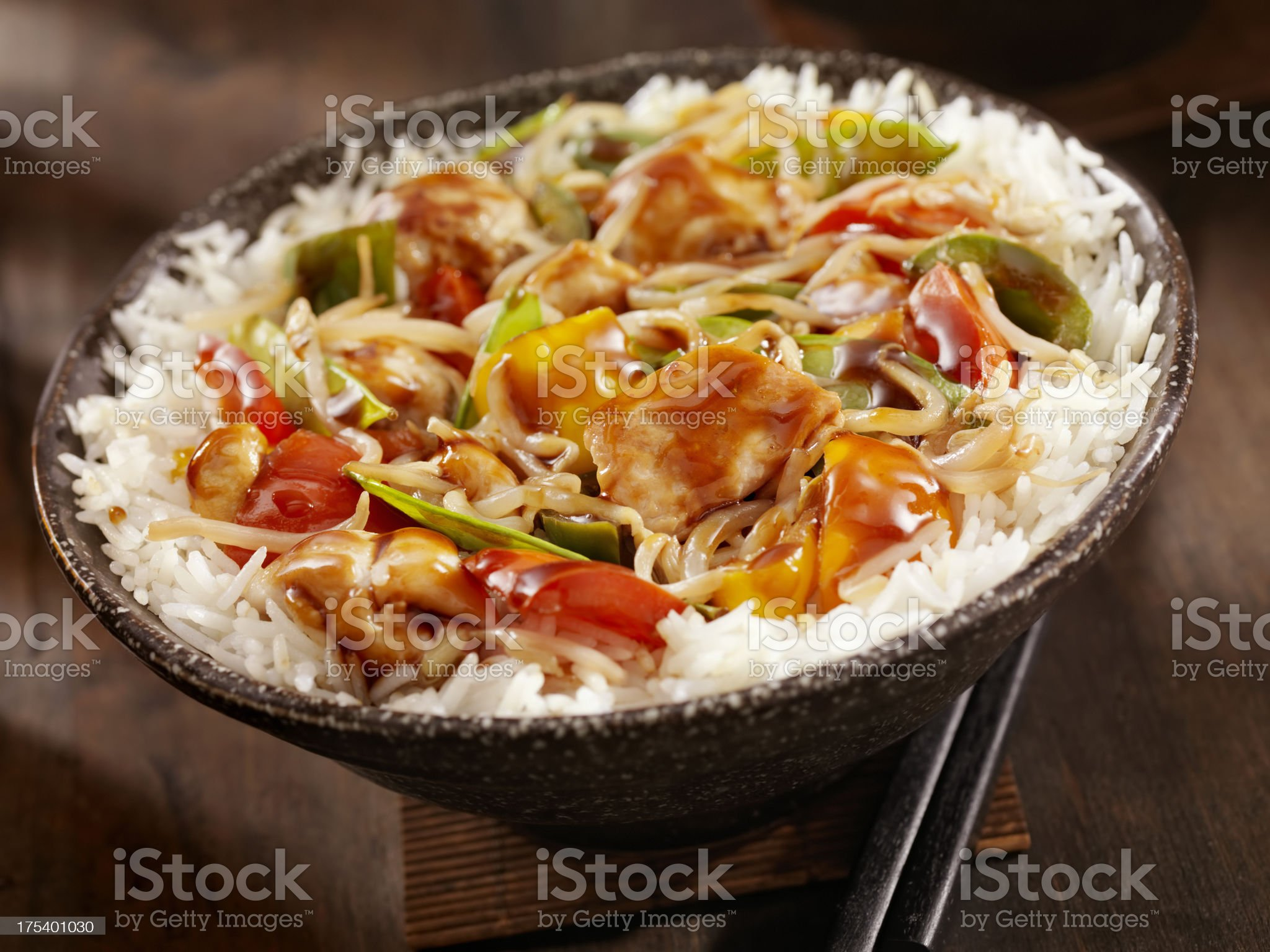 Teriyaki Chicken Stir fry royalty-free stock photo