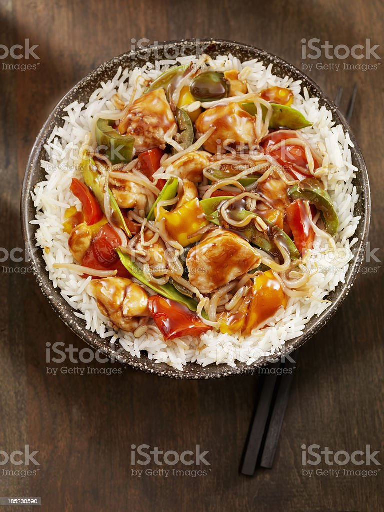 Teriyaki Chicken Stir fry stock photo