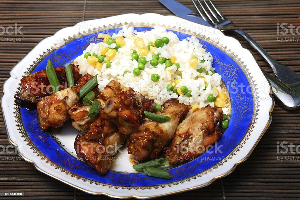 Teriyaki Chicken wings stock photo