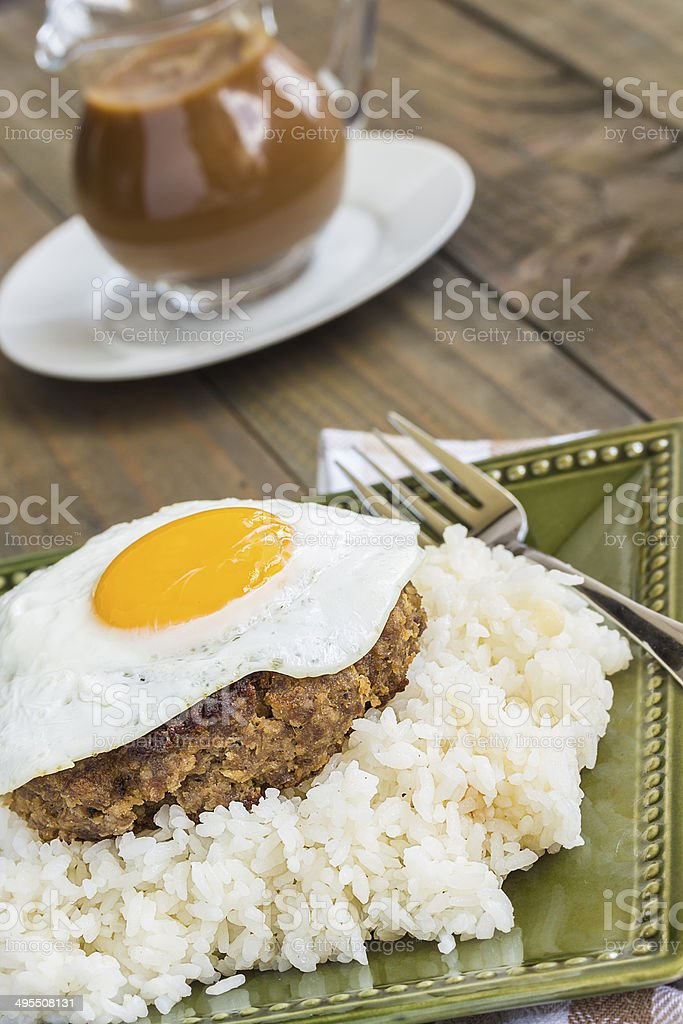 Teriyaki Loco Moco stock photo