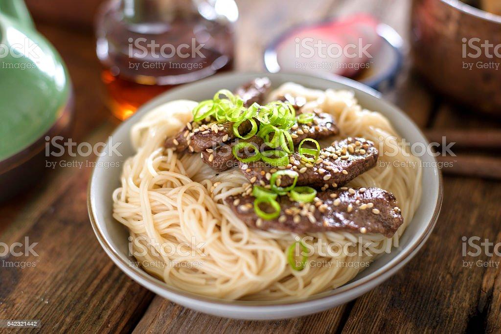 Teriyaki Noodle stock photo
