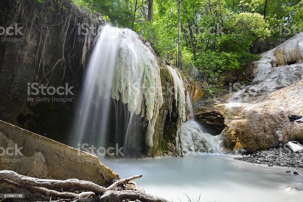terme naturali bagni san filippo toscana italia royalty free stock photo