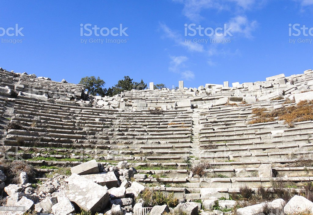 Termessos Amphitheater stock photo