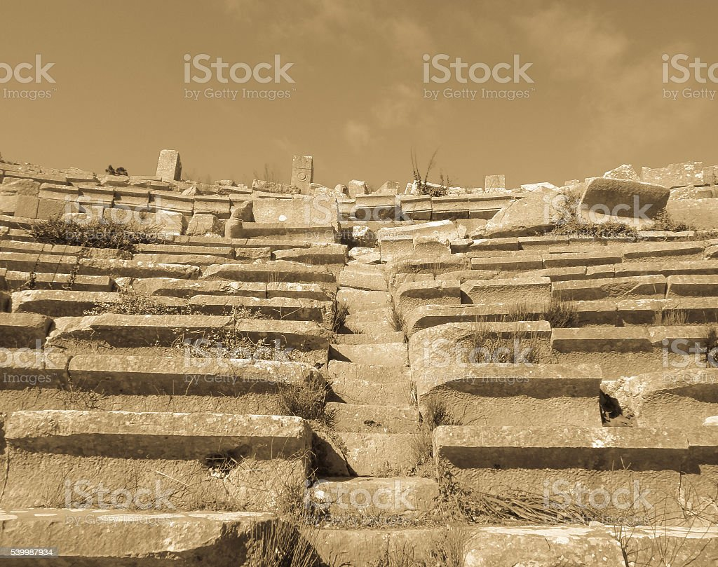 Termessos ancient city amphitheatre in Turkey stock photo