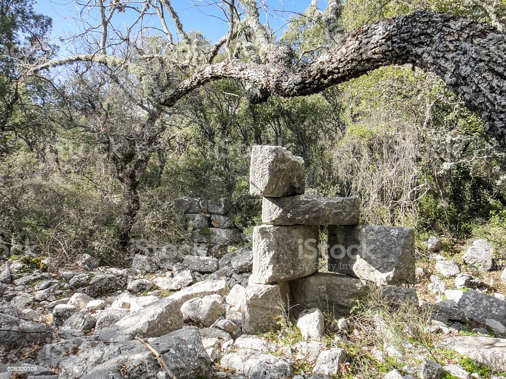 Termessos pisidian ancient city in Turkey stock photo