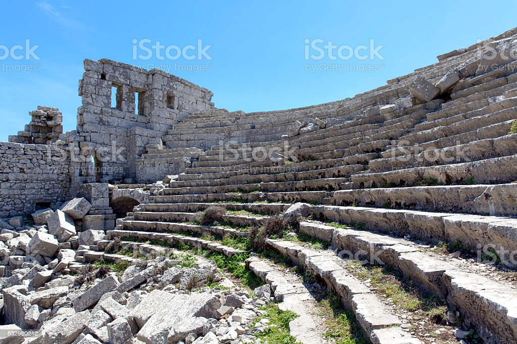Termessos ruins. stock photo