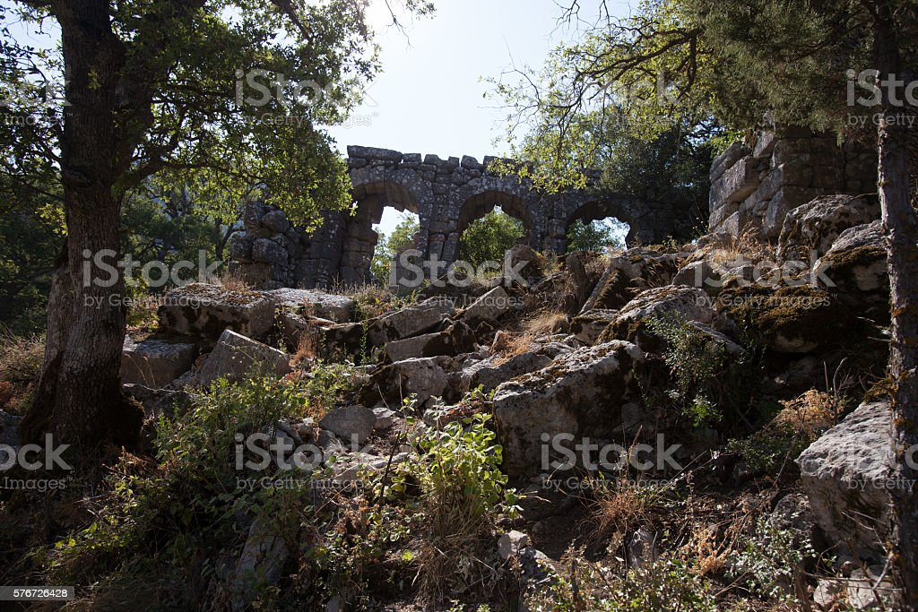 Termessos  ruins, Turkye stock photo