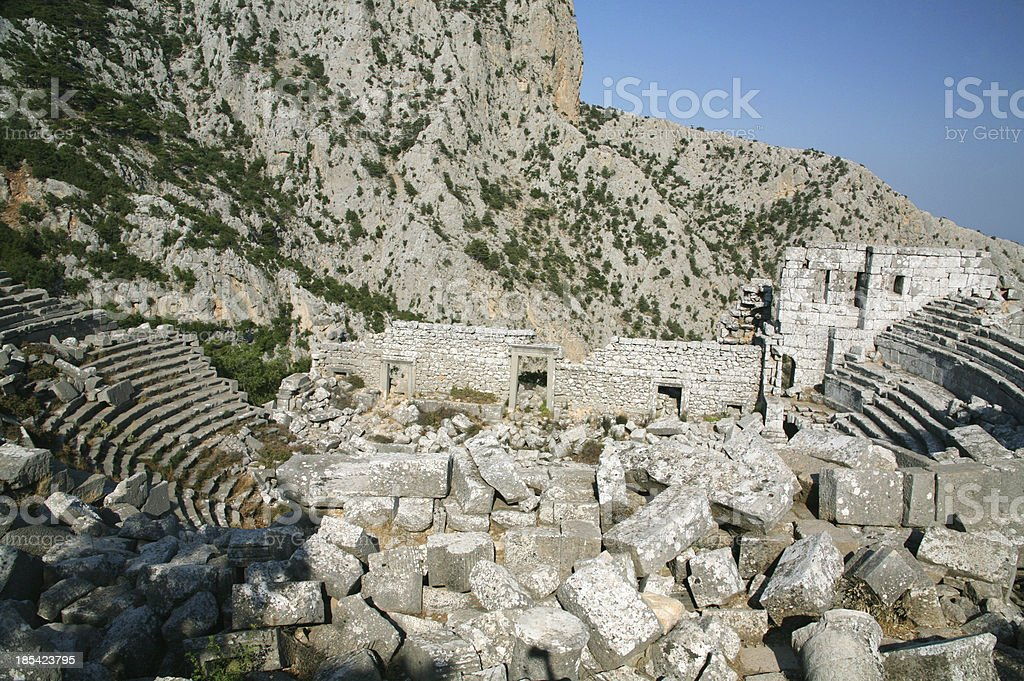 Termessos theatre, Turkey stock photo