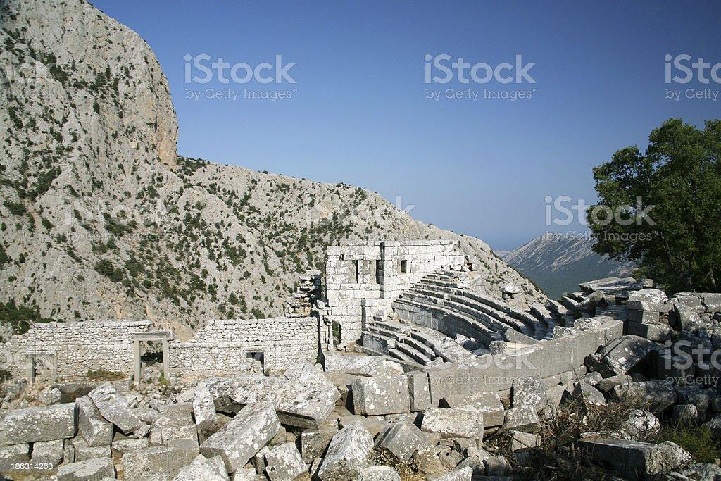 Termessos theatre, Turkey stock photo