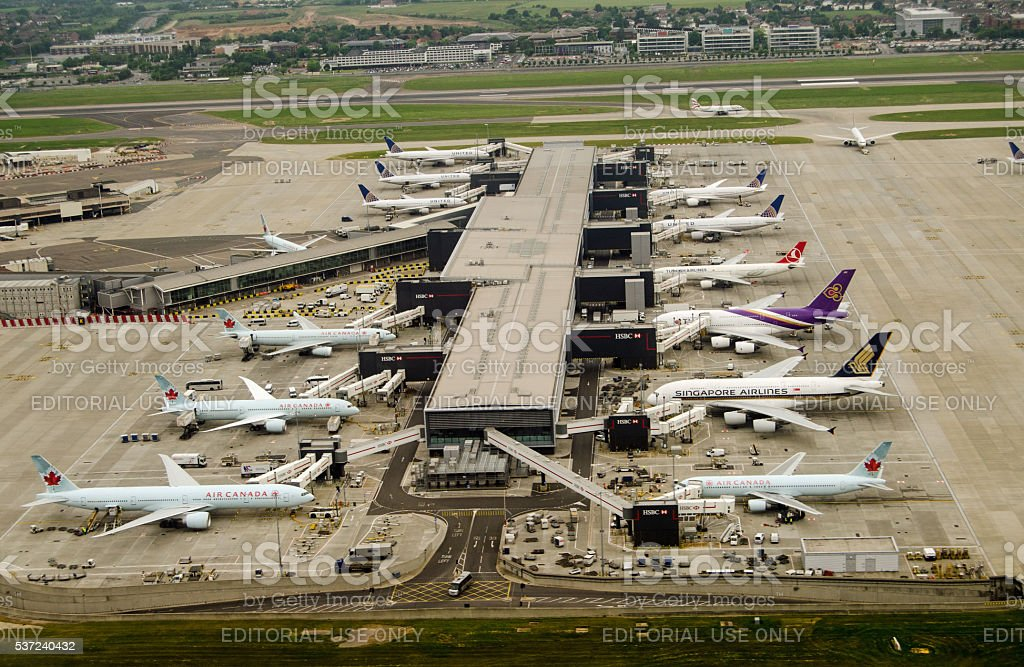 Terminal 2, Heathrow Airport, London stock photo