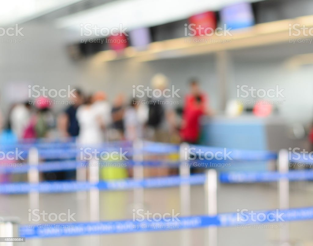 Terminal departure check-in at airport stock photo
