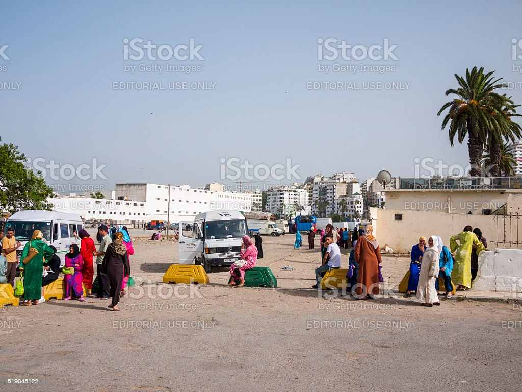 Terminal in Tangiers, Morocco stock photo