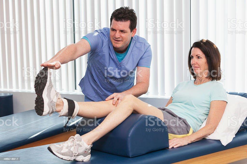 Terminal knee extension stock photo