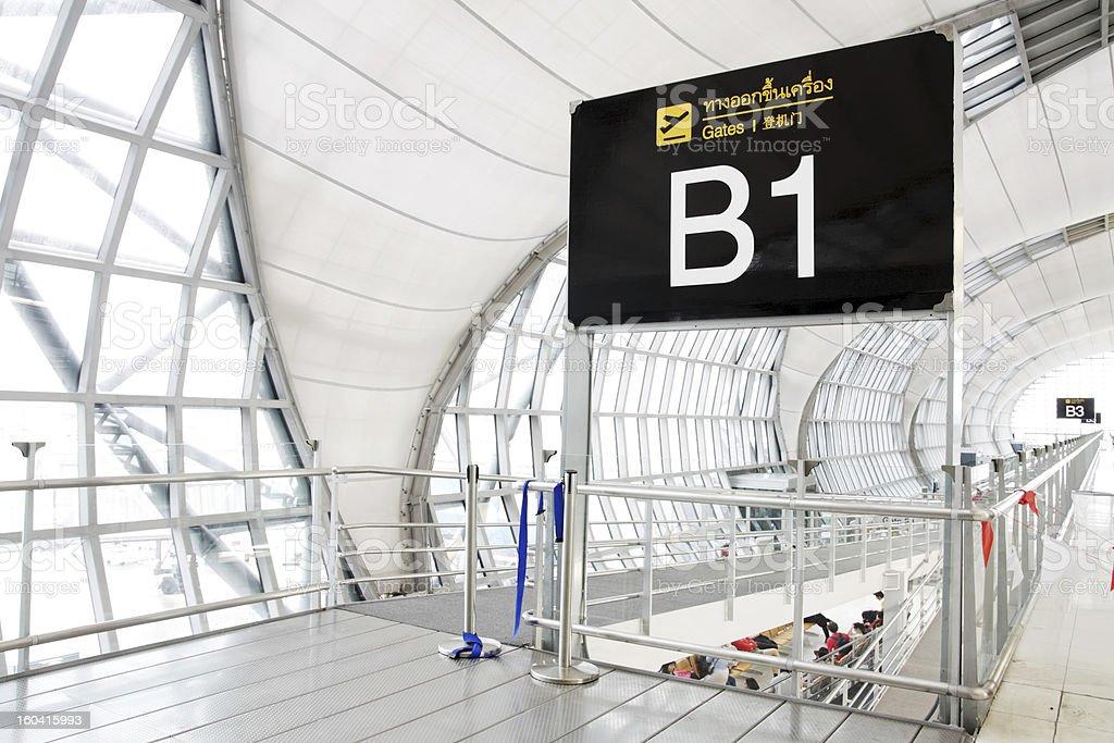 Terminal of Suvarnabhumi airport in Bangkok royalty-free stock photo