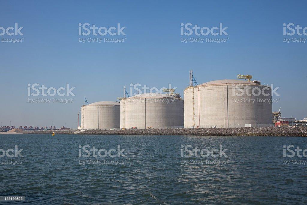 LNG terminal royalty-free stock photo