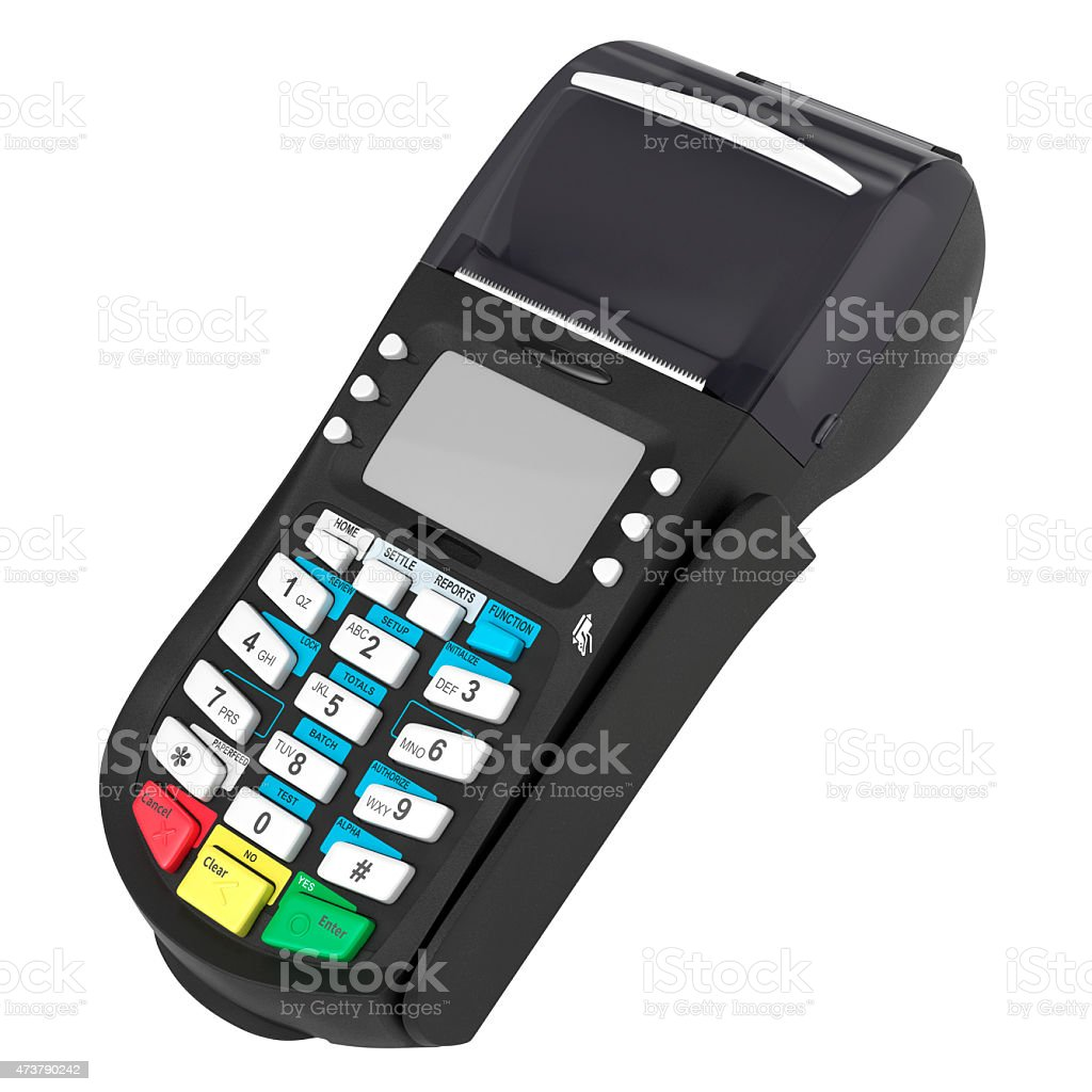 POS terminal stock photo