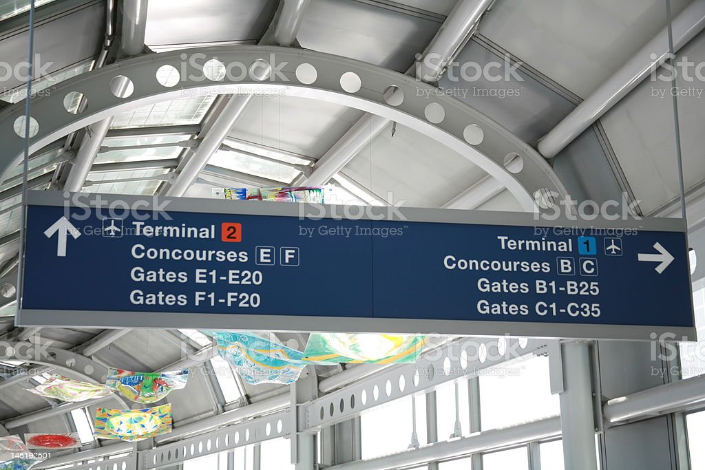 Terminal Sign royalty-free stock photo