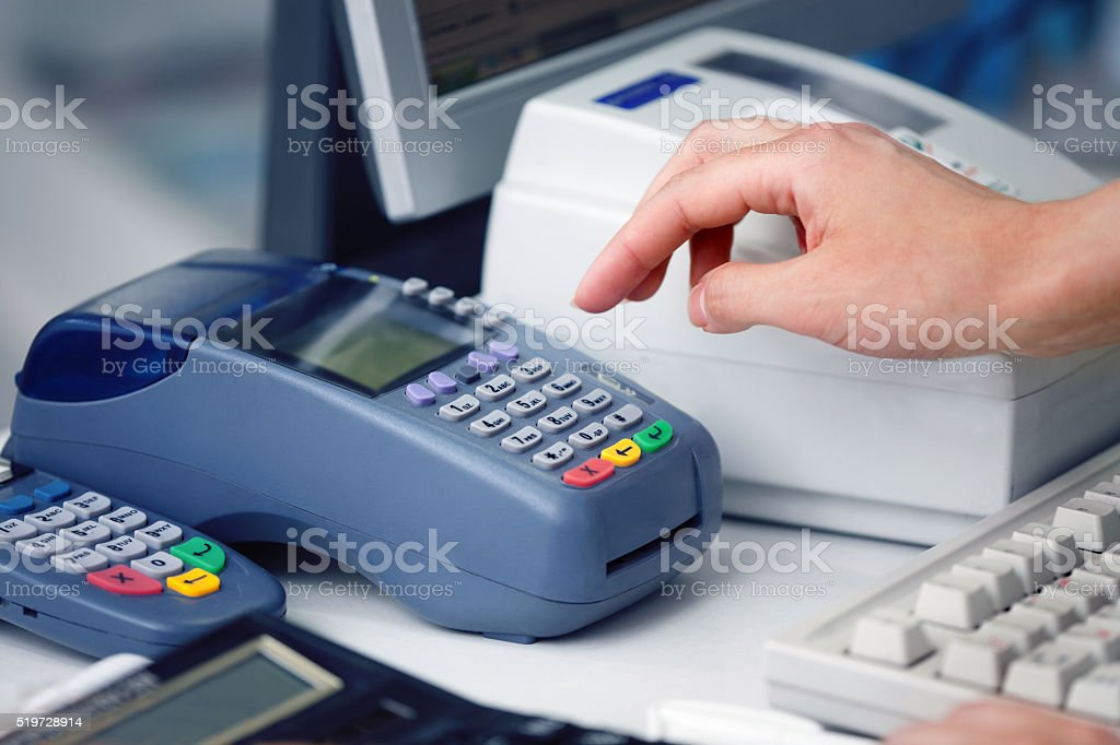 POS Terminal Transaction stock photo