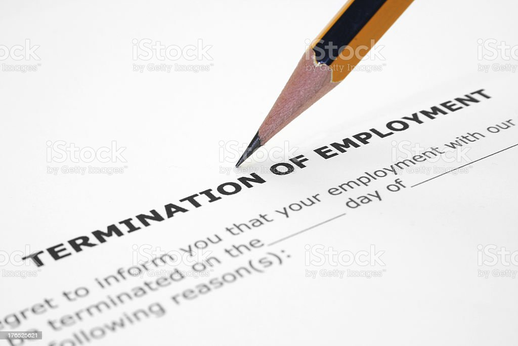 Termination Of Employment Pictures Images And Stock Photos  Istock