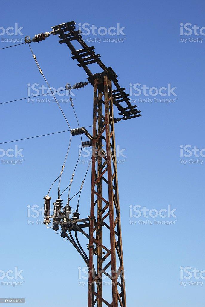 Termination pylon stock photo