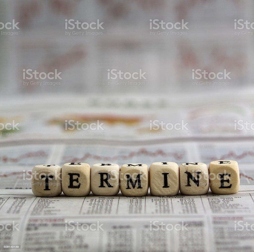 Termine stock photo