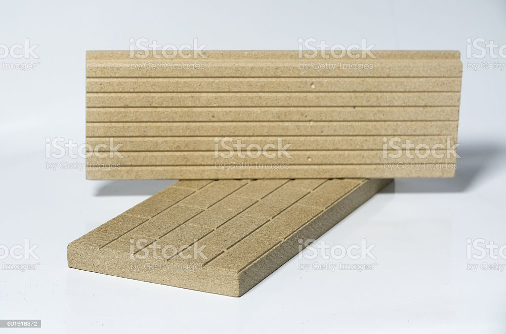 Termo Plate made of Mineral Vermiculite stock photo