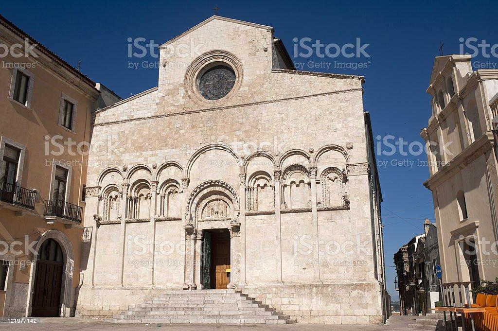 Termoli (Campobasso, Molise, Italy) - Cathedral facade royalty-free stock photo