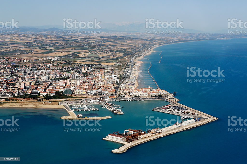 Termoli from the air stock photo