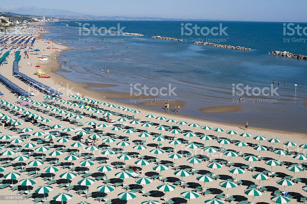 Termoli (Campobasso, Molise, Italy) - The beach at morning stock photo