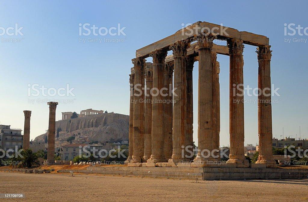 Termple of Zeus royalty-free stock photo