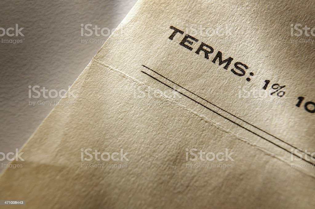 Terms 1% 2 royalty-free stock photo