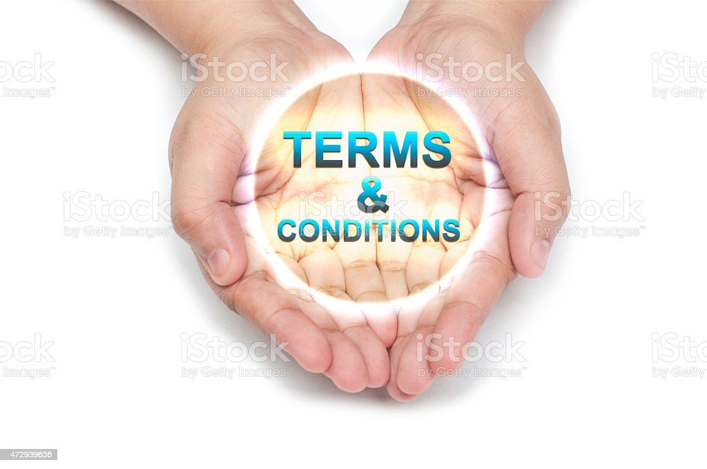 Terms and Condition - Regulation - Hand Series stock photo