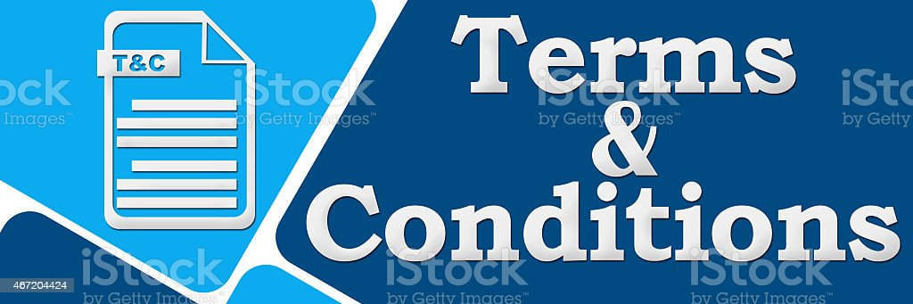 Terms And Conditions 929 stock photo