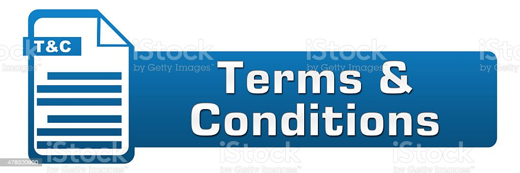 Terms And Conditions File Icon Horizontal stock photo