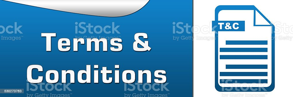 Terms and Conditions Horizontal vector art illustration
