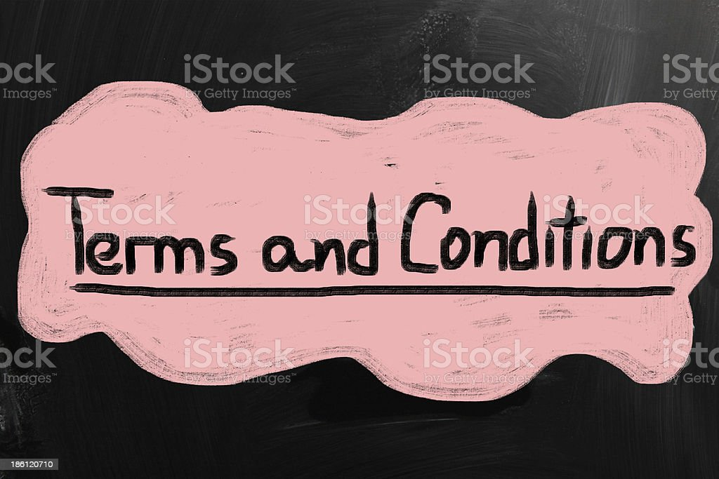Terms & Conditions stock photo