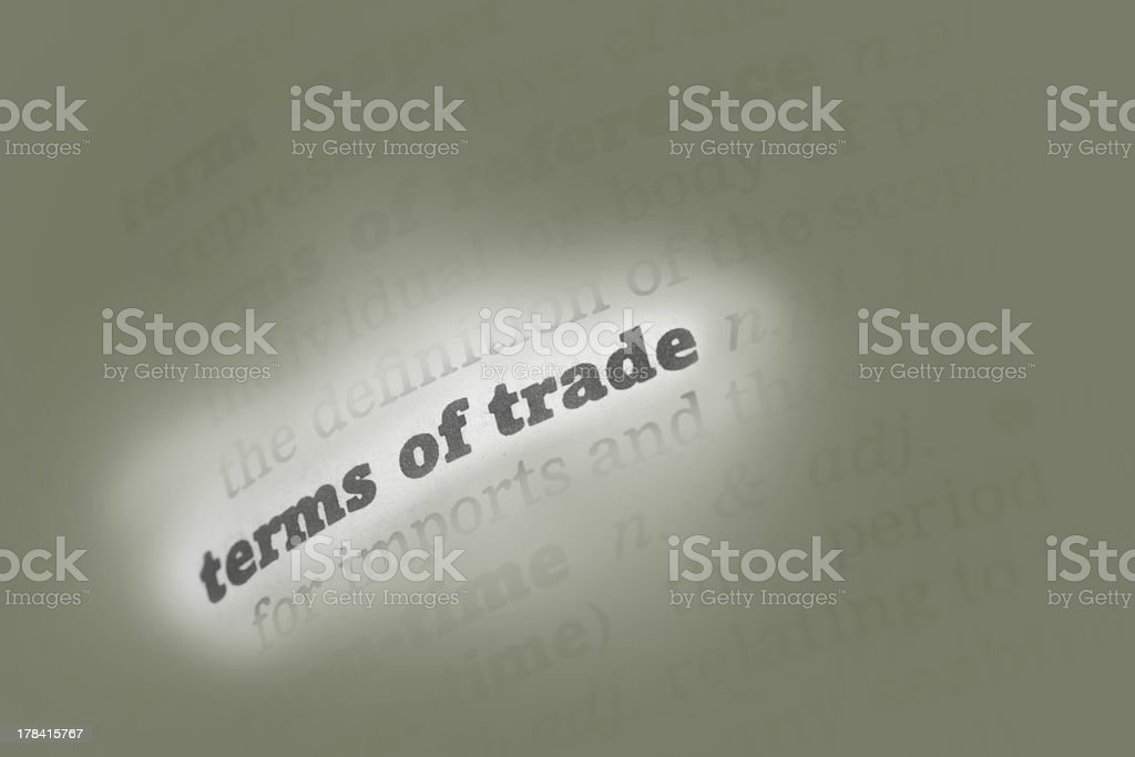 Terms of trade Dictionary Definition royalty-free stock photo