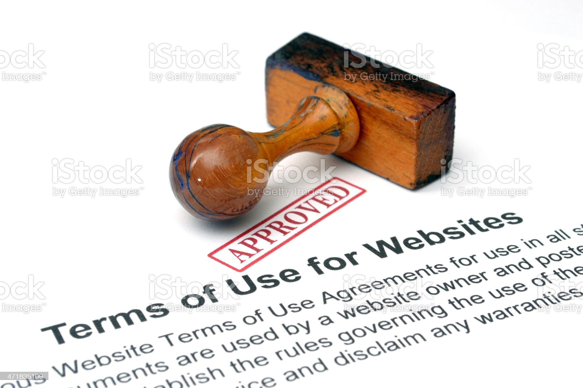 Terms of use websites royalty-free stock photo
