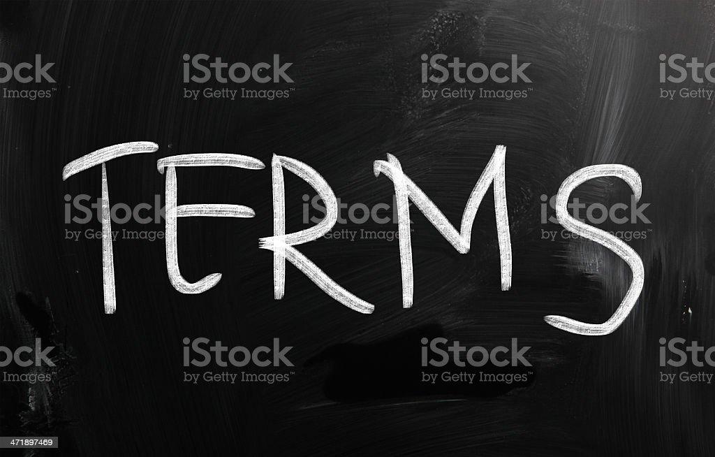 Terms stock photo