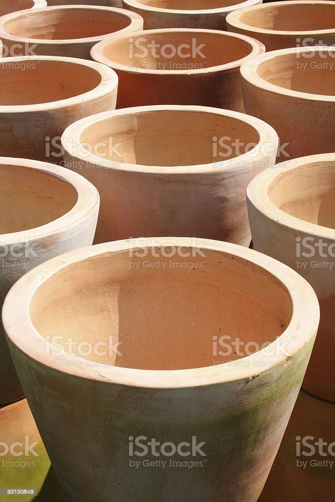 Terra Cotta Pots royalty-free stock photo